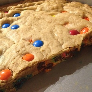 M&M Blonde Brownie