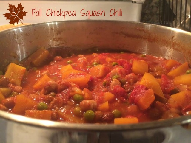 Chickpea & Squash Chili - cooking edit