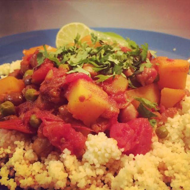 Chickpea & Squash Chili - plate!