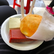 Cheese and guava paste and bread
