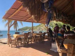 Lunch by the beach after snorkeling